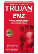Trojan Condom Regular Non Lubricated 12 Pack
